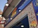 Pizzería Pita Pizza. :: Detalle de la zona superior de la entrada de la pizzería.